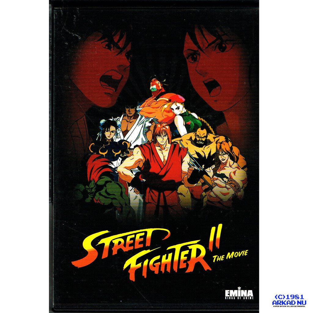 STREET FIGHTER II THE MOVIE DVD - SVENSK UTGÅVA