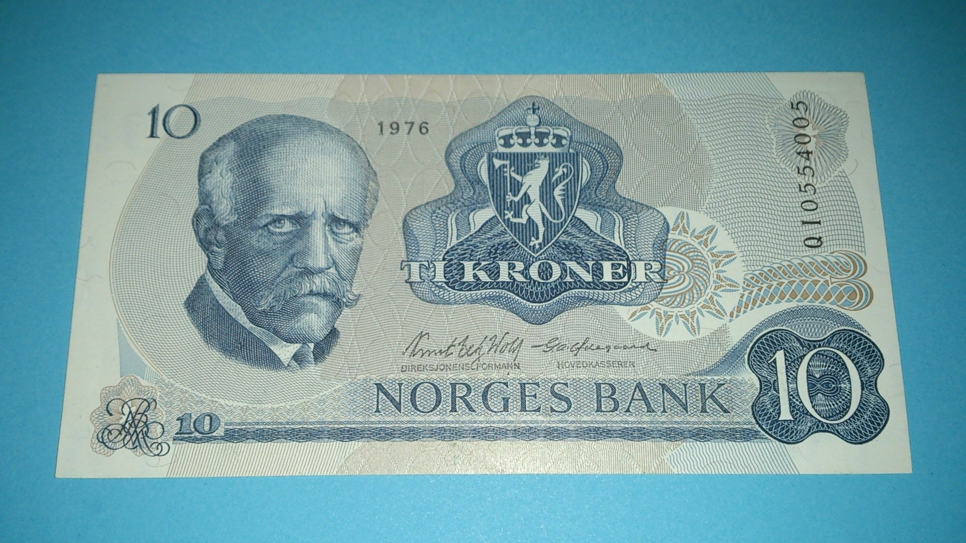 Norge (Norway) ¤ 10 Kr ¤ REPLACEMENT note ¤ 1976 QI (MWR i.e. UNC$70) AU+