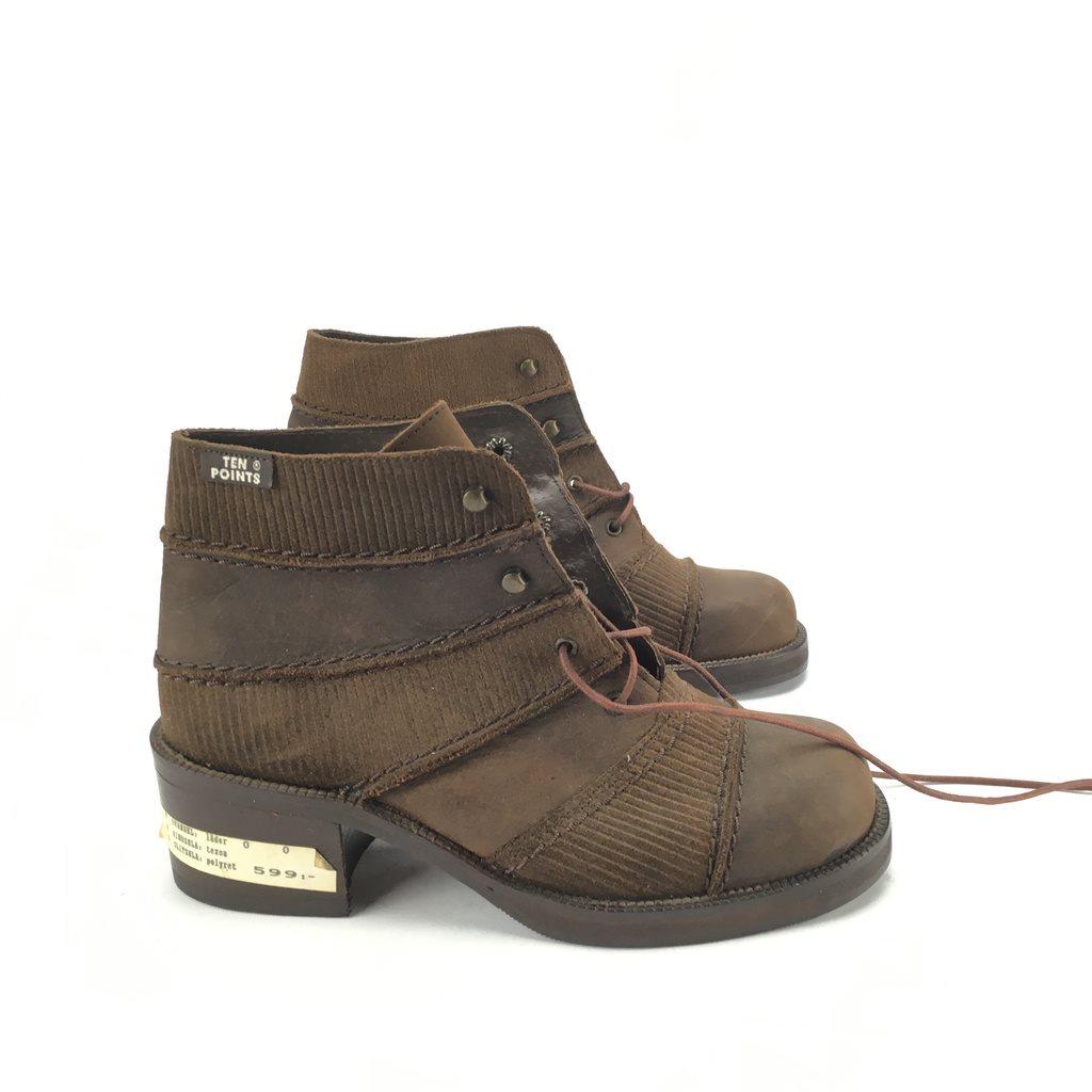 TEN POINTS bruna läder Skor strl 35 (339277089) ᐈ Footly på Tradera 69d3e139f47f3