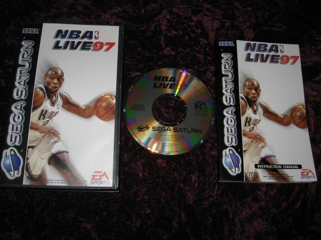 NBA LIVE 97 SEGA SATURN MED FODRAL+MANUAL