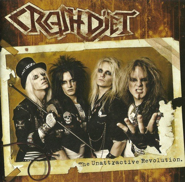 Crashdïet-Cd 2007-The Unattractive Revolution-Super j-case with sticker-Mkt Fin