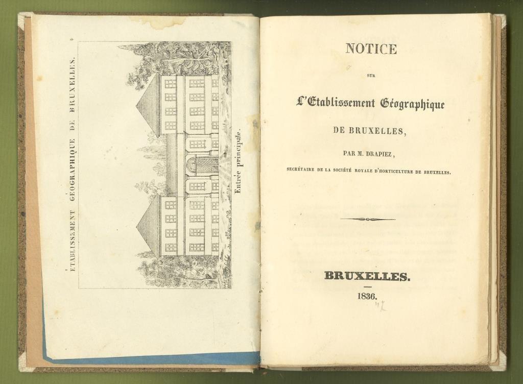 Notice sur L'Etablissement Géographique de Bruxelles (1836)