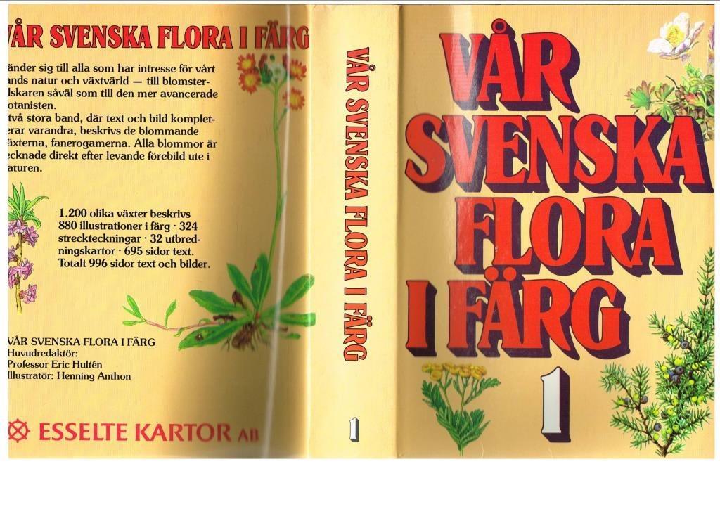 VÅR SVENSKA FLORA FLORA FLORA I FÄRG 1-2 (1985) 69320e