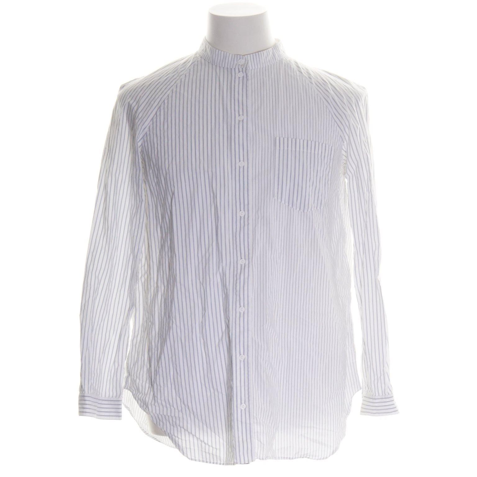 COS, Oxfordskjorta, Strl: 38, Vit/Blå, Bomull