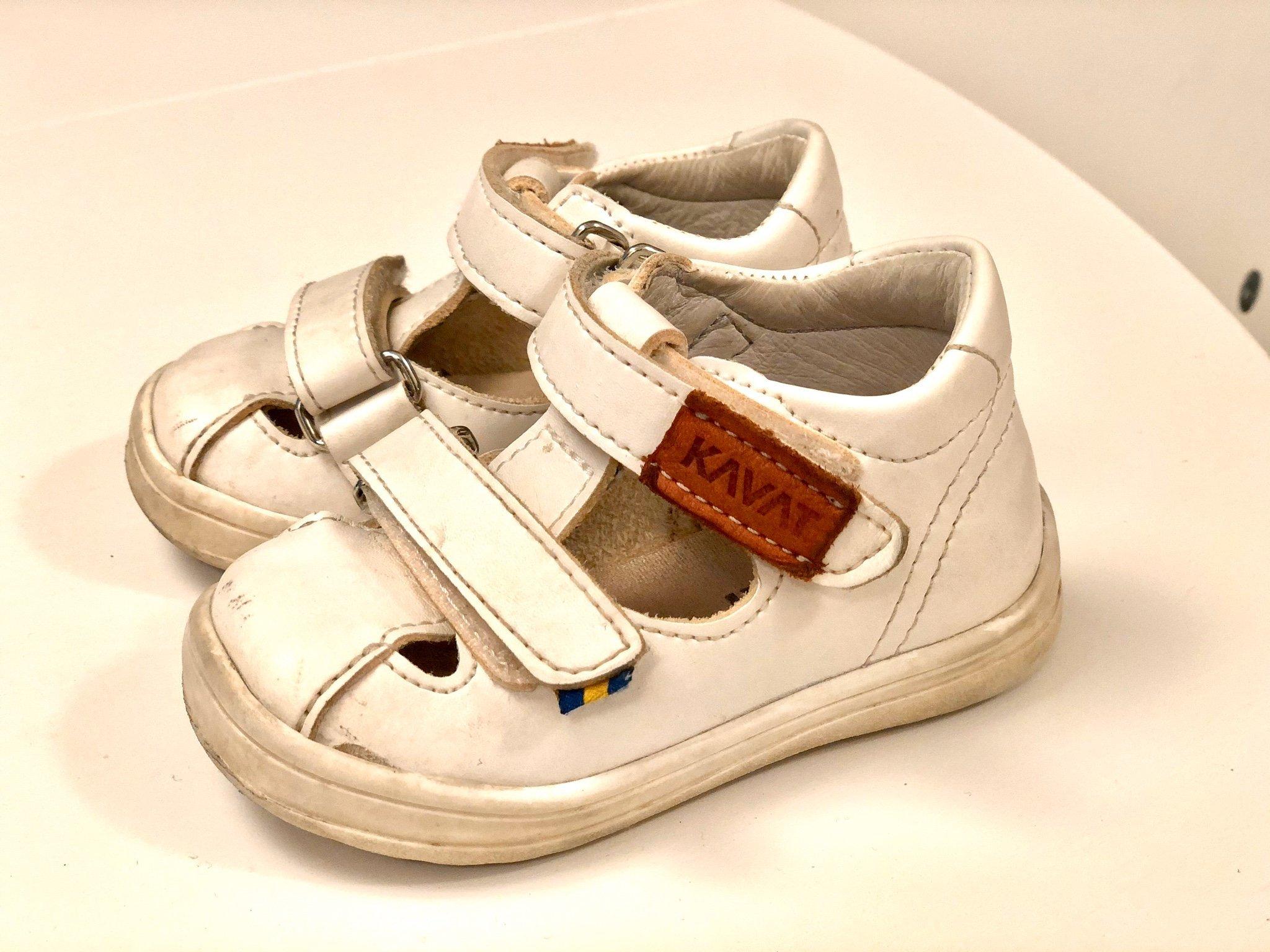 Kavat trona xc lära gå skor sandaler strl 19