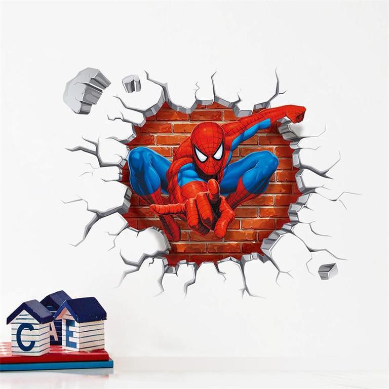Väggdekor Marvel : Marvel spider man stor vägg dekoration cm fri frakt på