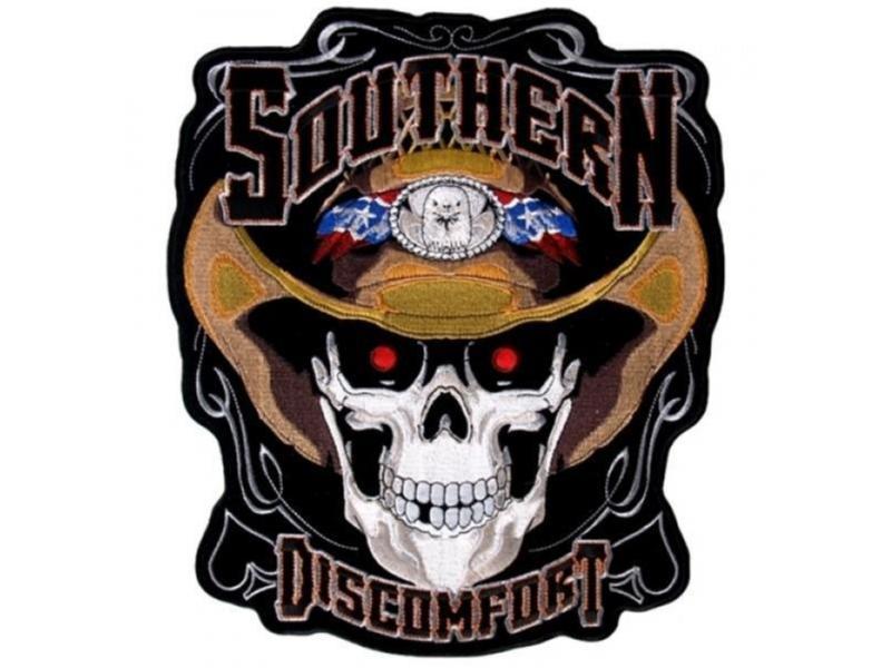 Southern Discomfort Skull Smal Patch Brodyrmärke.
