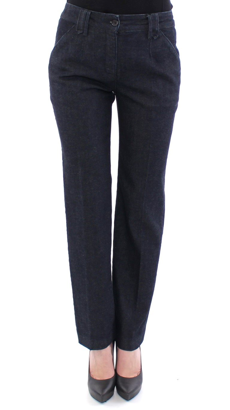 Dolce & Gabbana - Blue Cotton Regular Fit Jeans Pants