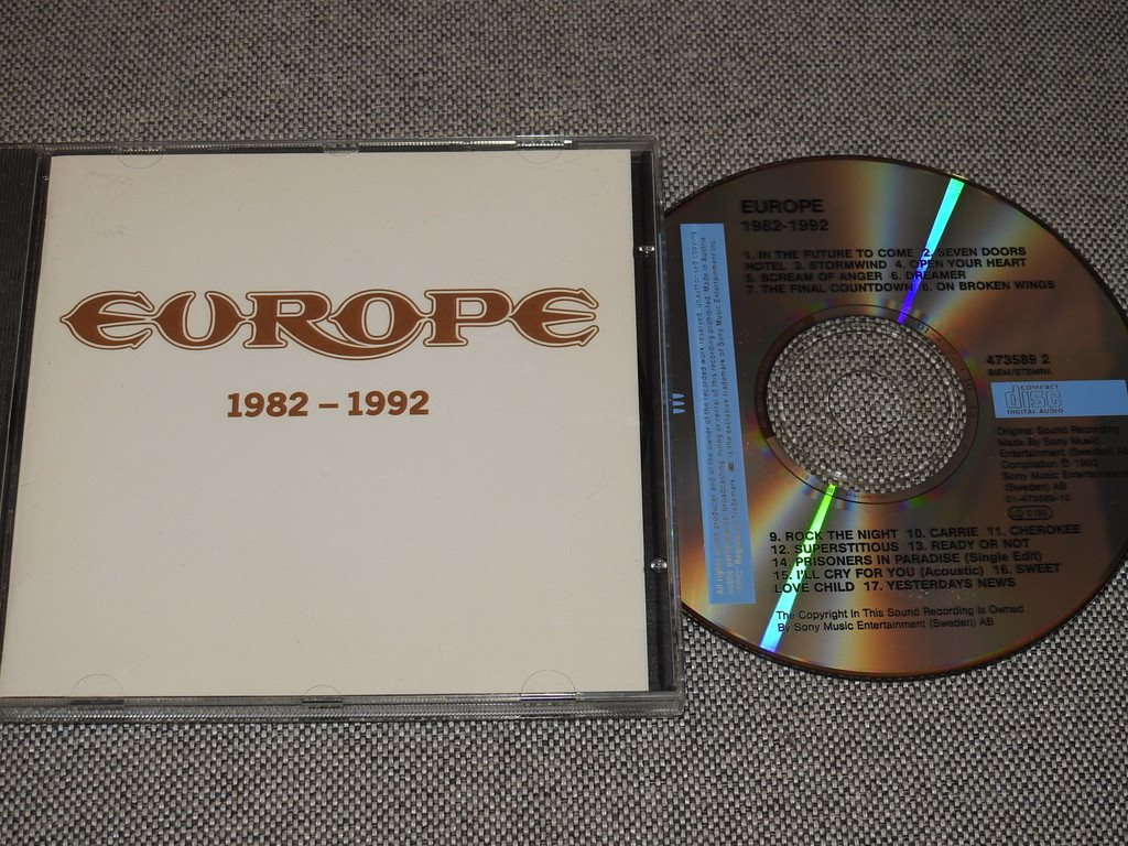 Europe 1982-1992 CD (Final Countdown,Rock the Night,Open your heart)