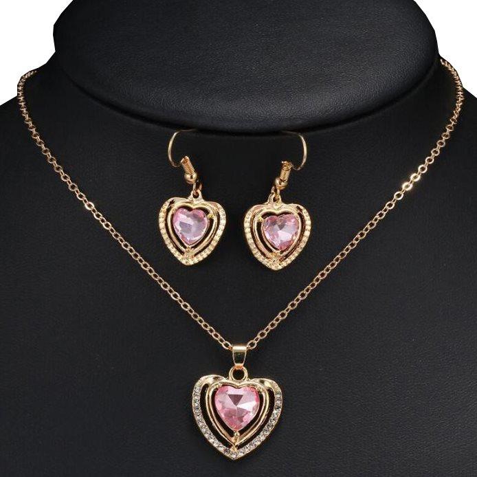 Smyckesset Guldpläterad Halsband Örhänge.. (281936870) ᐈ Sustra på ... 86b719d4db311