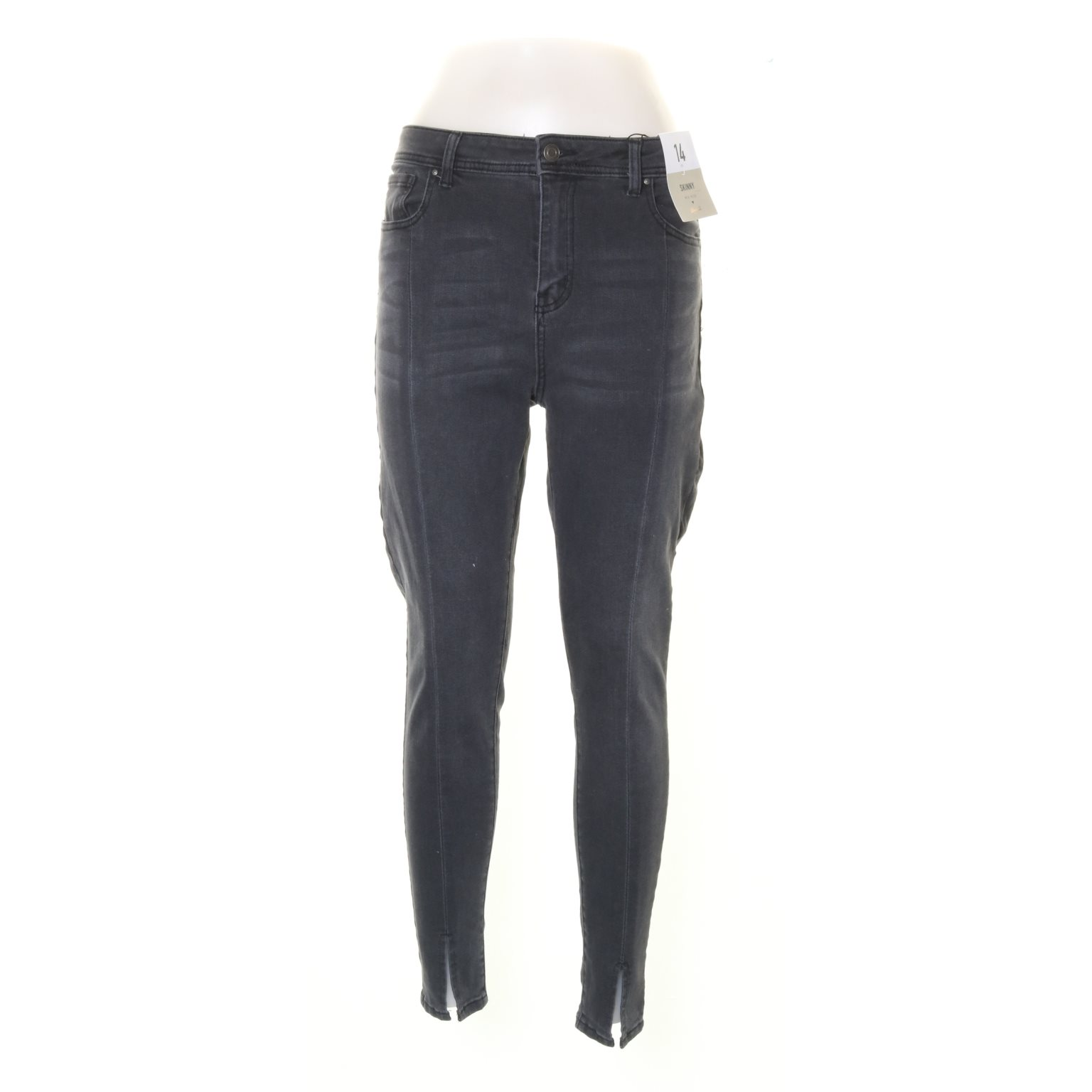 Denim Co., Jeans, Strl: 42, Skinny Mid Rise, Mörkgrå