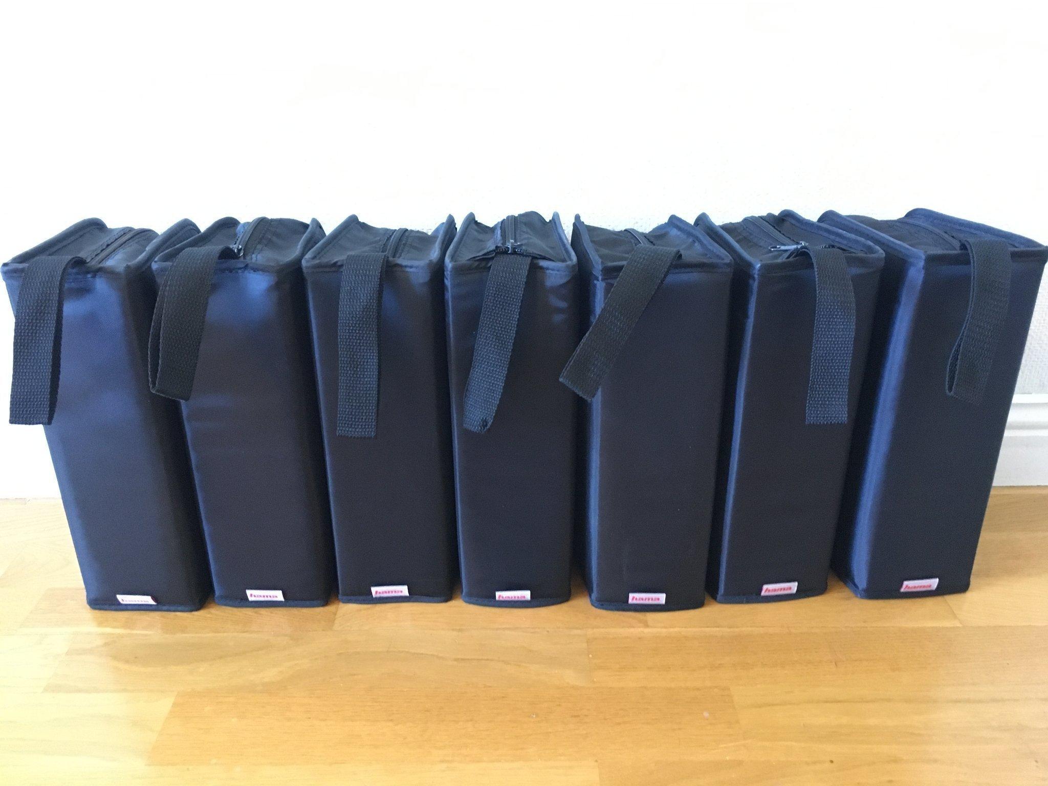 7st Hama CDDVD väskor 120 skivor