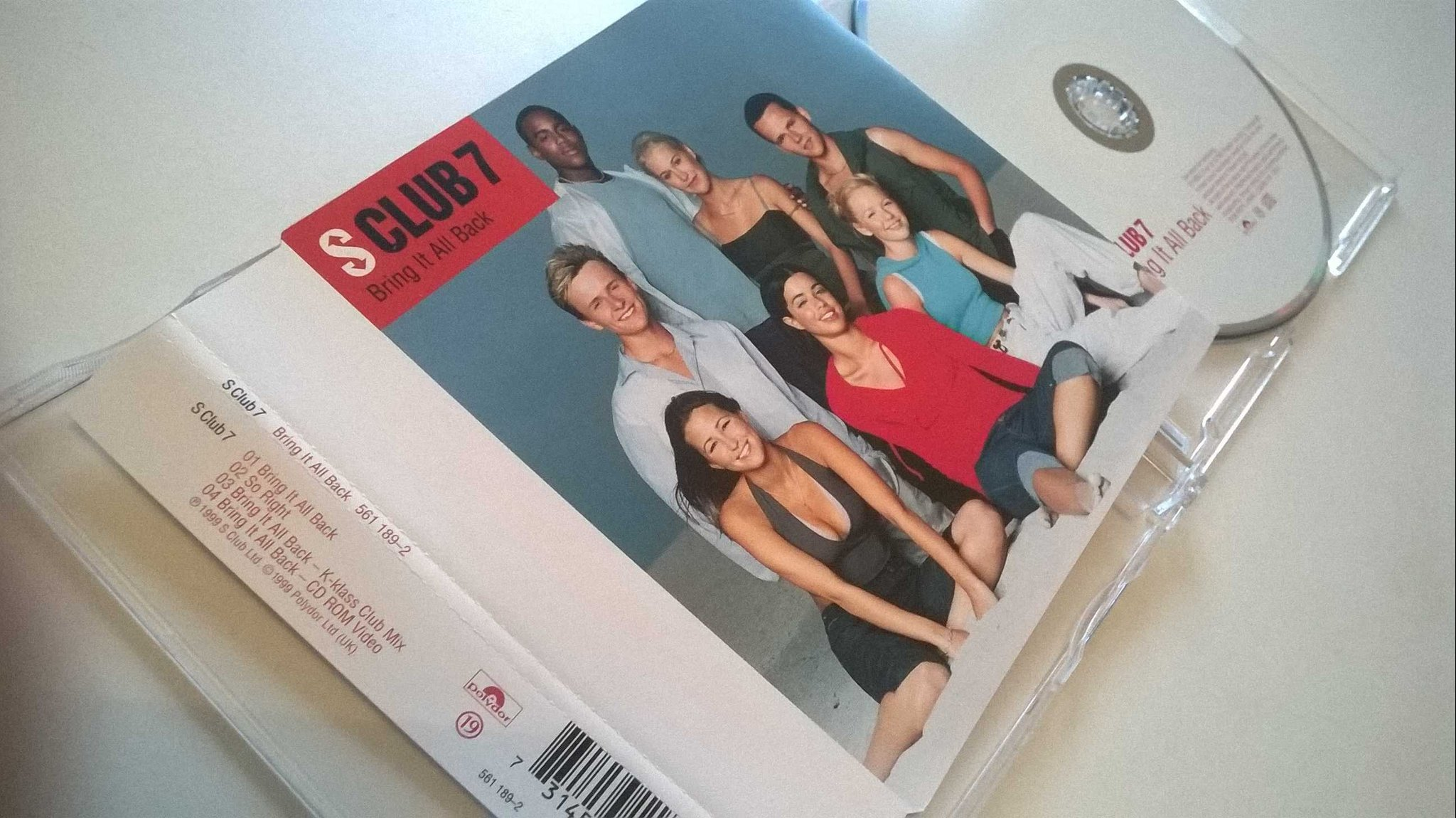 S Club 7 ?- Bring It All Back, CD, Maxi-Single