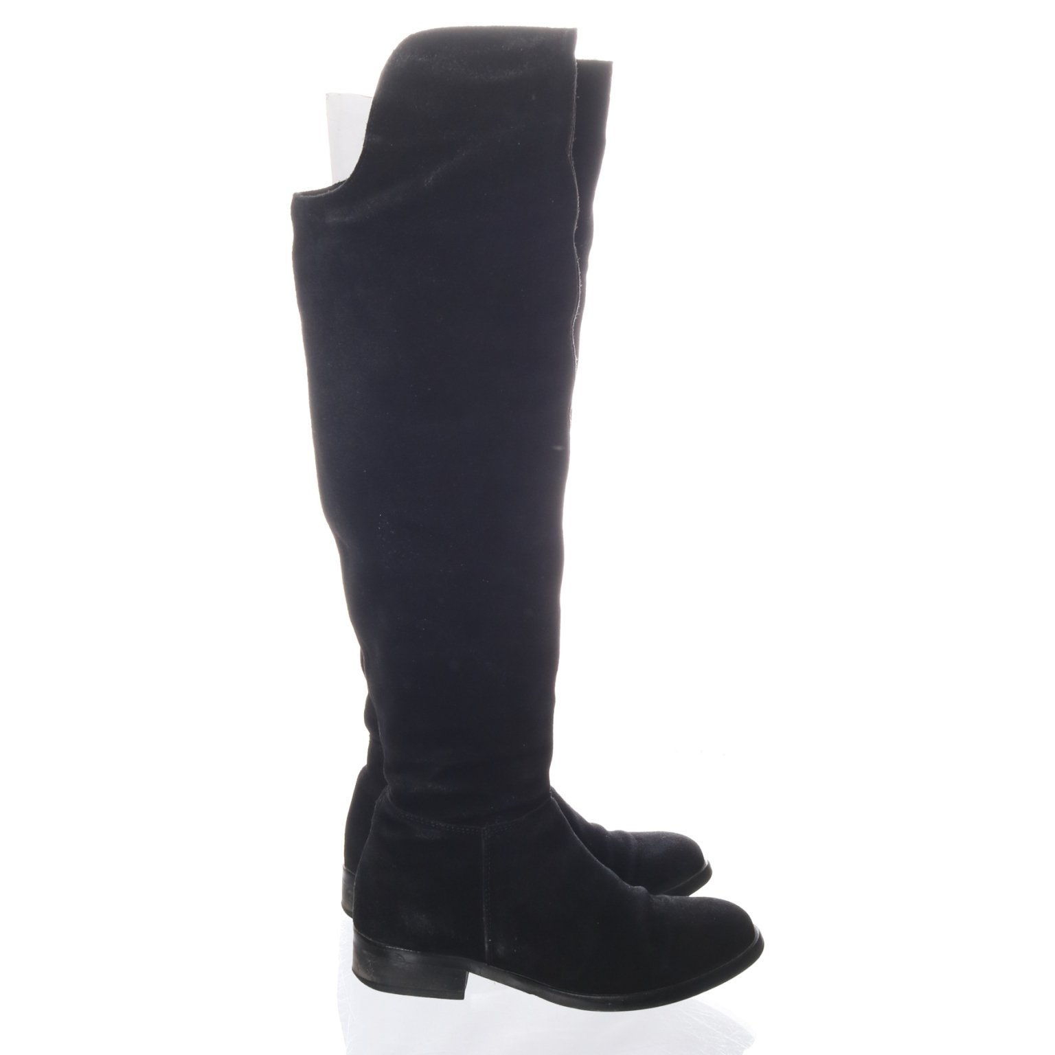 Overknee Boots, Strl: 37, Svart, Mocka