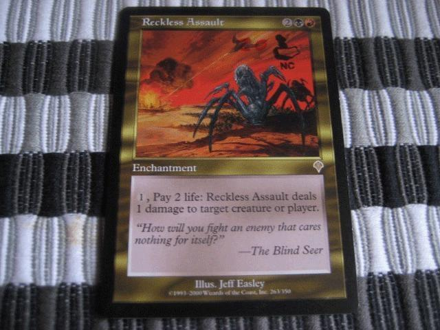 RECKLESS ASSAULT RARE (MULTICOLOR INVASION) *