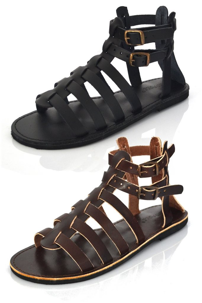 Nya sandal gladiator bruna damskor dam läder sandaler sko sommarskor  storlek 39 845ea2390203e
