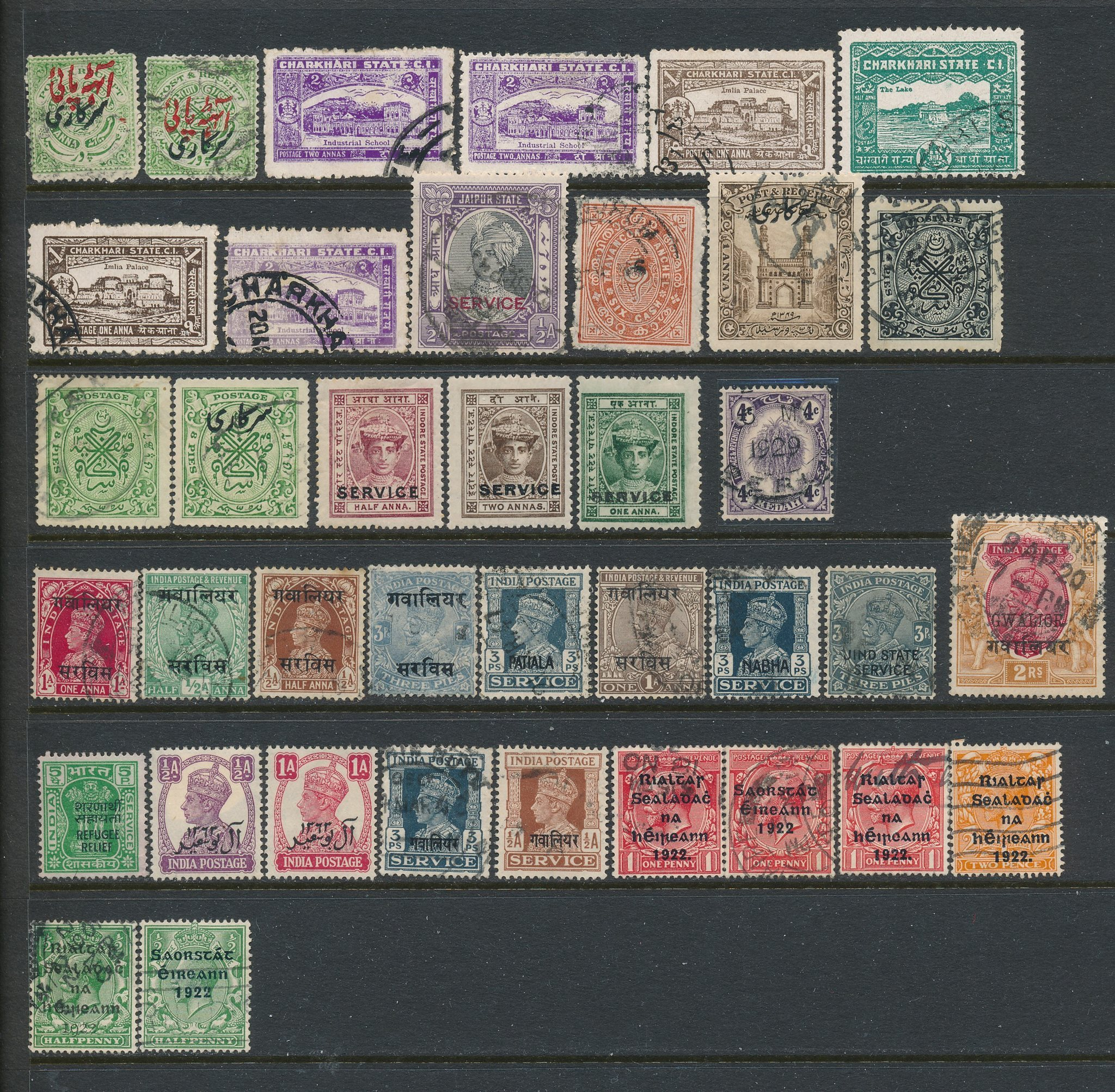 Diverse Indiska Delstater 1 Blad Stamplat 338648659 ᐈ Kop Pa