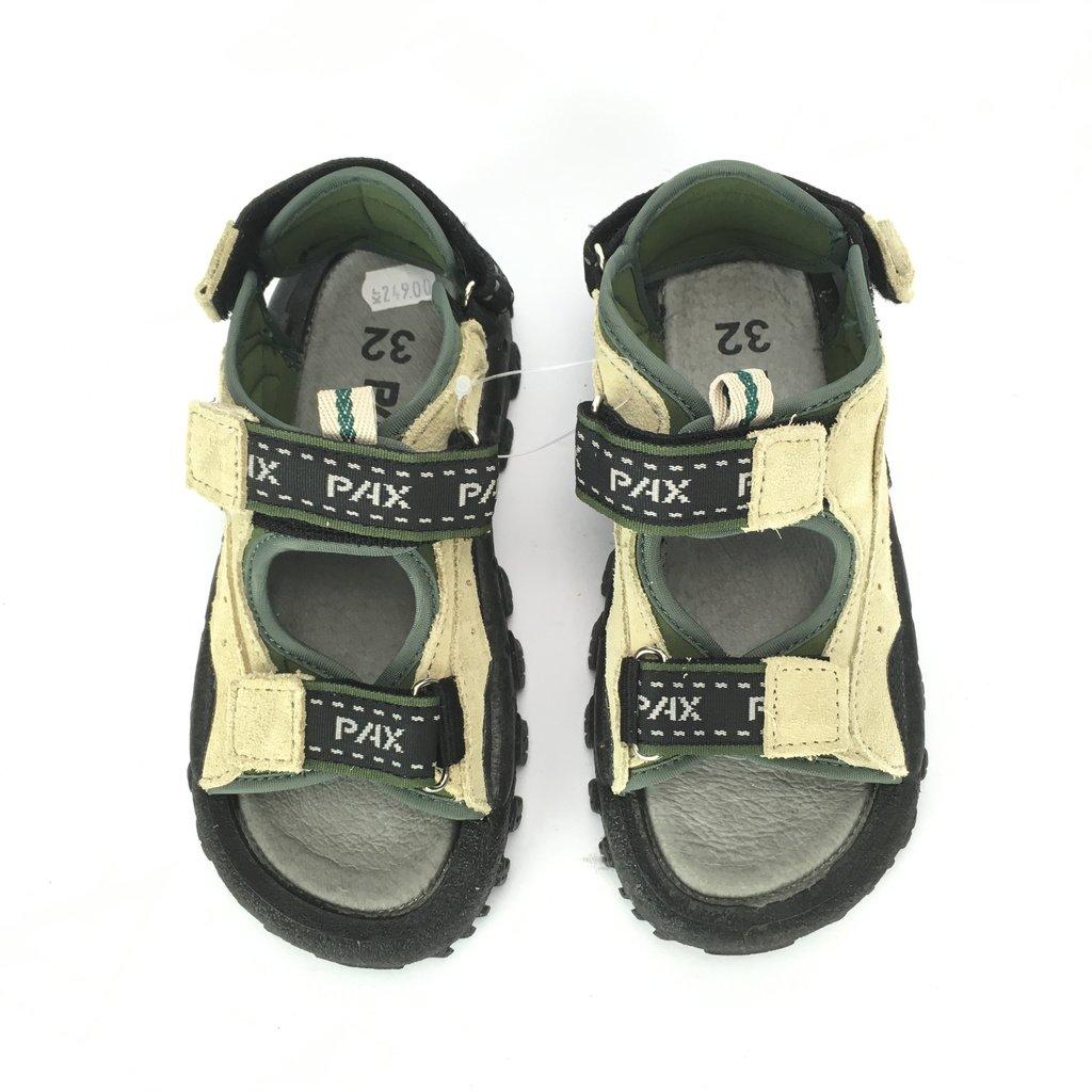 Sandaler, Pax, stl 32, Skinn, Grön