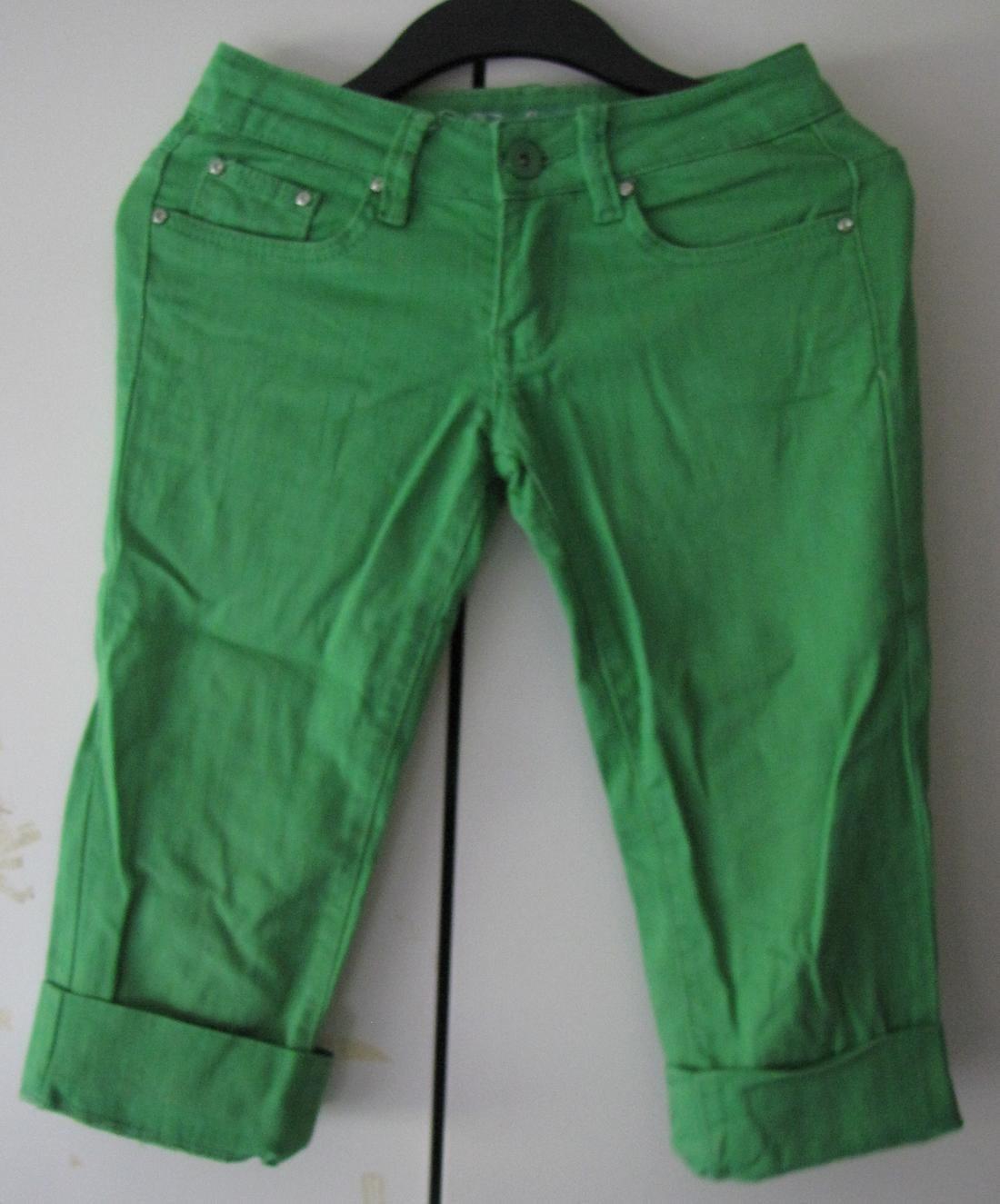 Gröna 3 4 långa shorts byxor jeans 5 fickor sil.. (340884996) ᐈ Köp ... df6845d2ae096