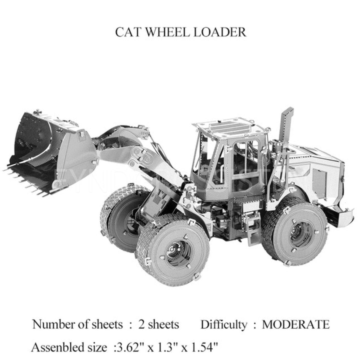 Hobby 3D Metal Pussel CAT Wheel Loader Fri Frakt Ny