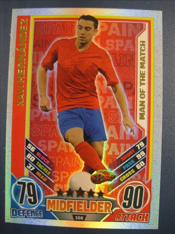 XAVI HERNANDEZ - MAN OF THE MATCH - SPANIEN - MATCH ATTAX IRLAND EURO 2012