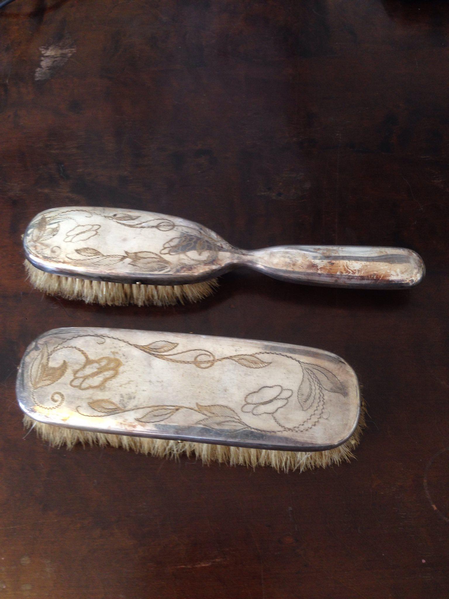 gamla servettringar silver