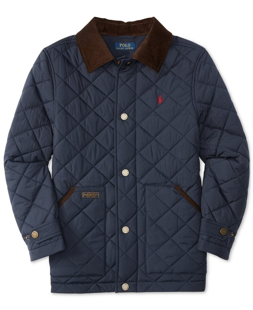 RALPH LAUREN Polo Quilted Jacka. Marinblå, Stl. L, 14-16, ca. 158/164, Ny!!