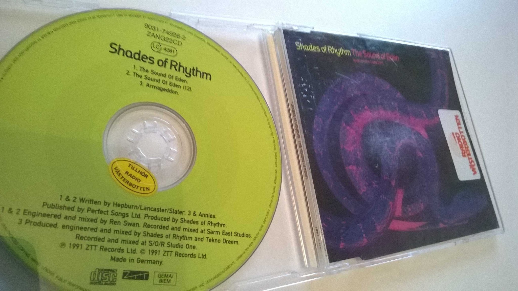 Shades Of Rhythm ?- The Sound Of Eden, CD, Single