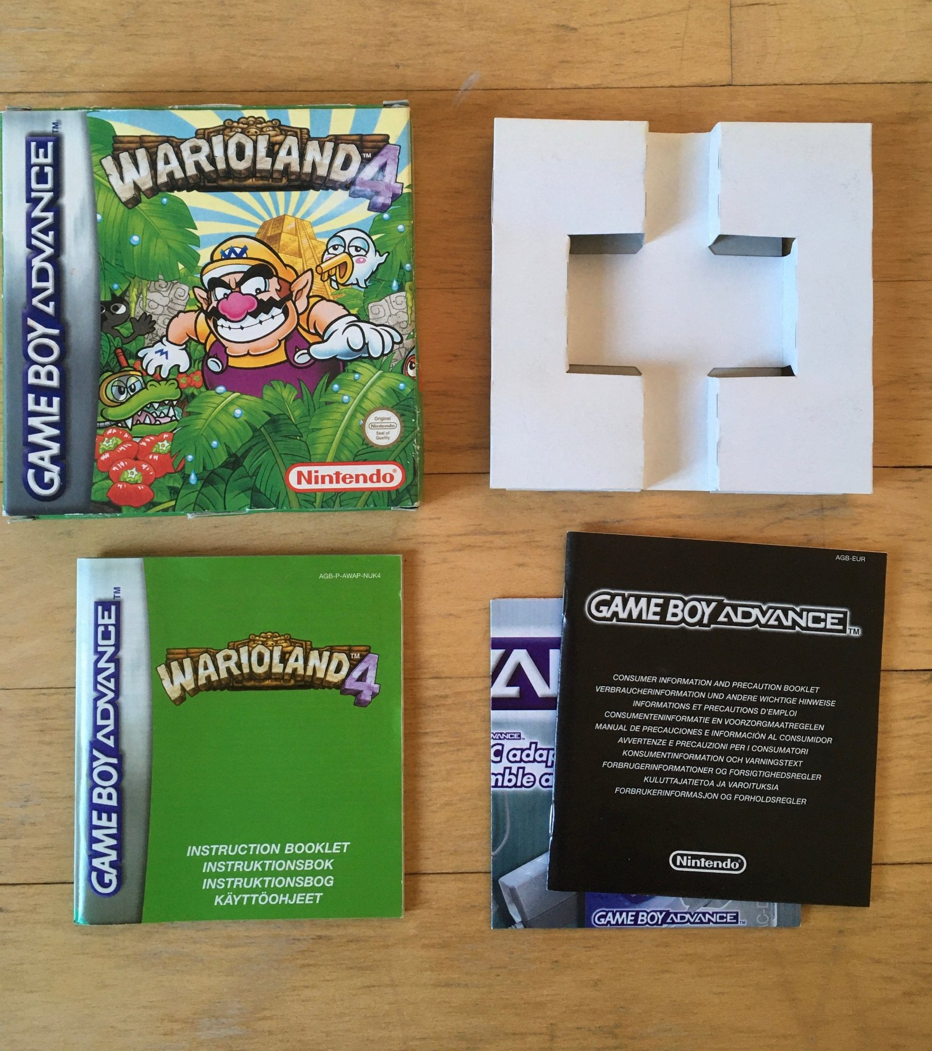 Wario Land 4 (Bergsala) - Kartong, manual - GBA - Game Boy - Gameboy - Warioland