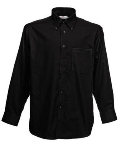 Oxfordskjorta F600, svart storlek 3XL