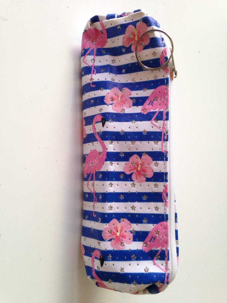 Pennfodral   necessär Flamingo rosa   blå (317485001) ᐈ Köp på Tradera 0573d9d11baf4