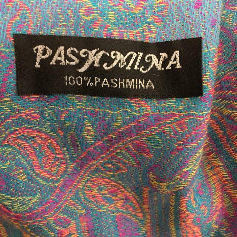 Pashmina, Pashminasjal, Pashminasjal, Pashminasjal, Blå/Rosa/Grön/Gul 897129
