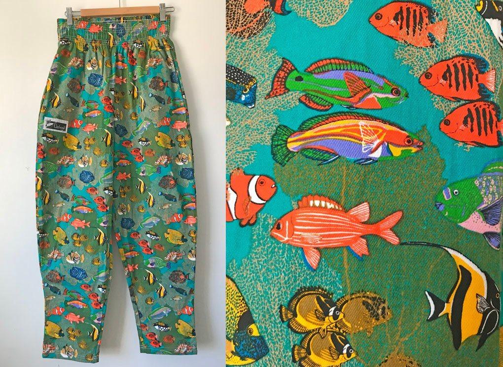 Chefwear kockbyxor akvarium herr byxor kockbyxa byxa relaxed baggy fiskar S e63dc125fb2bc