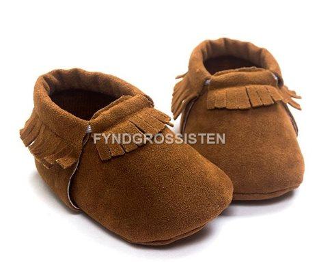 77a89ffe012 Mockasiner för Småbarn 13-18 mån Barnskor Barn skor - Brun Fri Frakt Ny ...