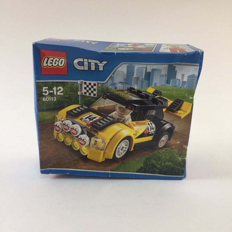 LEGO, Byggsats, City Racerbil, Gul