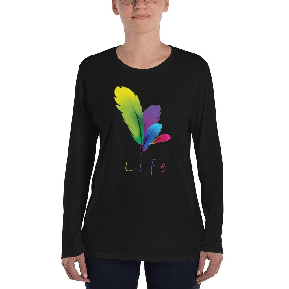 Långärmad Dam T-shirt, Svart stl. XXL
