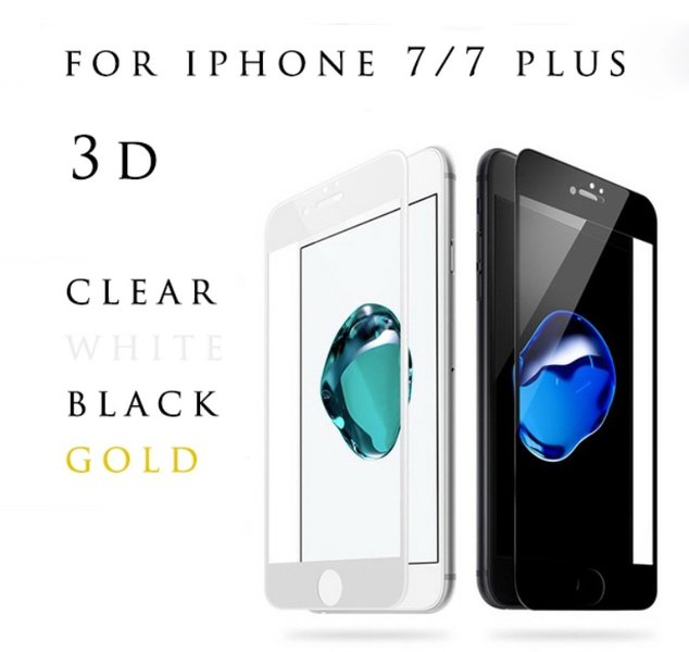 2-PACK iPhone 7 3D-Pansar VIT