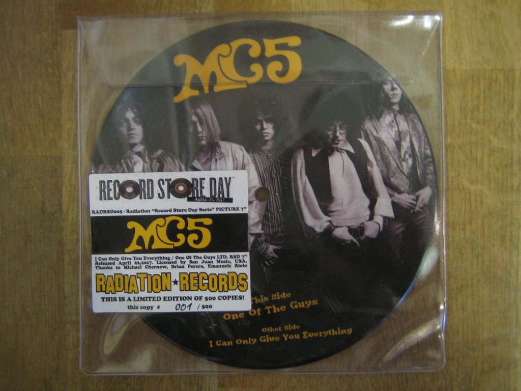"MC5-One Of The Guys  (Bild-Singel ""7"") Ny Och Ospelad.Record Store Day Utgåva"