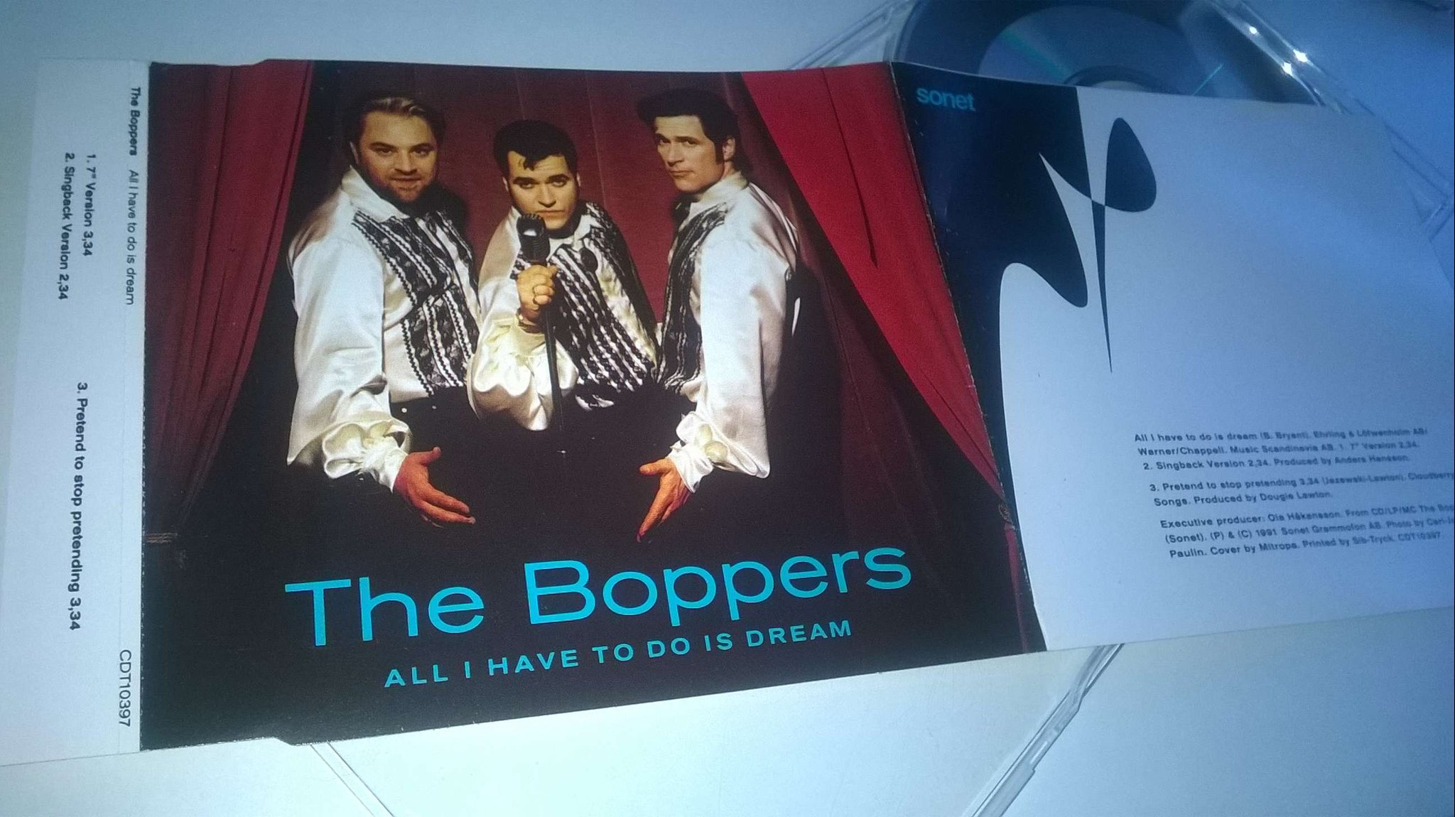 The Boppers - All I have to do is dream, CD, Single, rare!
