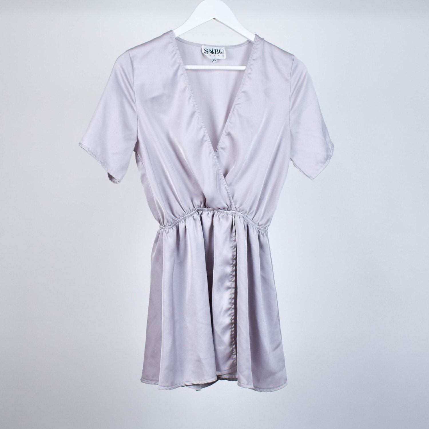 Satin playsuit, size XS