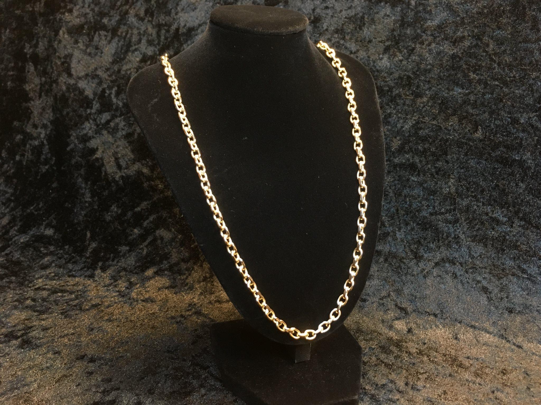 Ankarlänk halsband i 18k guld (332916069) ᐈ Köp på Tradera 274ffc6c8c571
