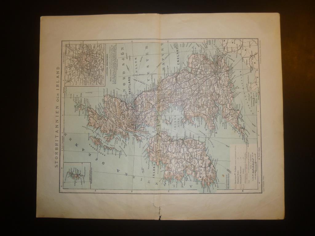 Karta 1902 Storbritannien Och Irland 379675193 ᐈ Kop Pa Tradera