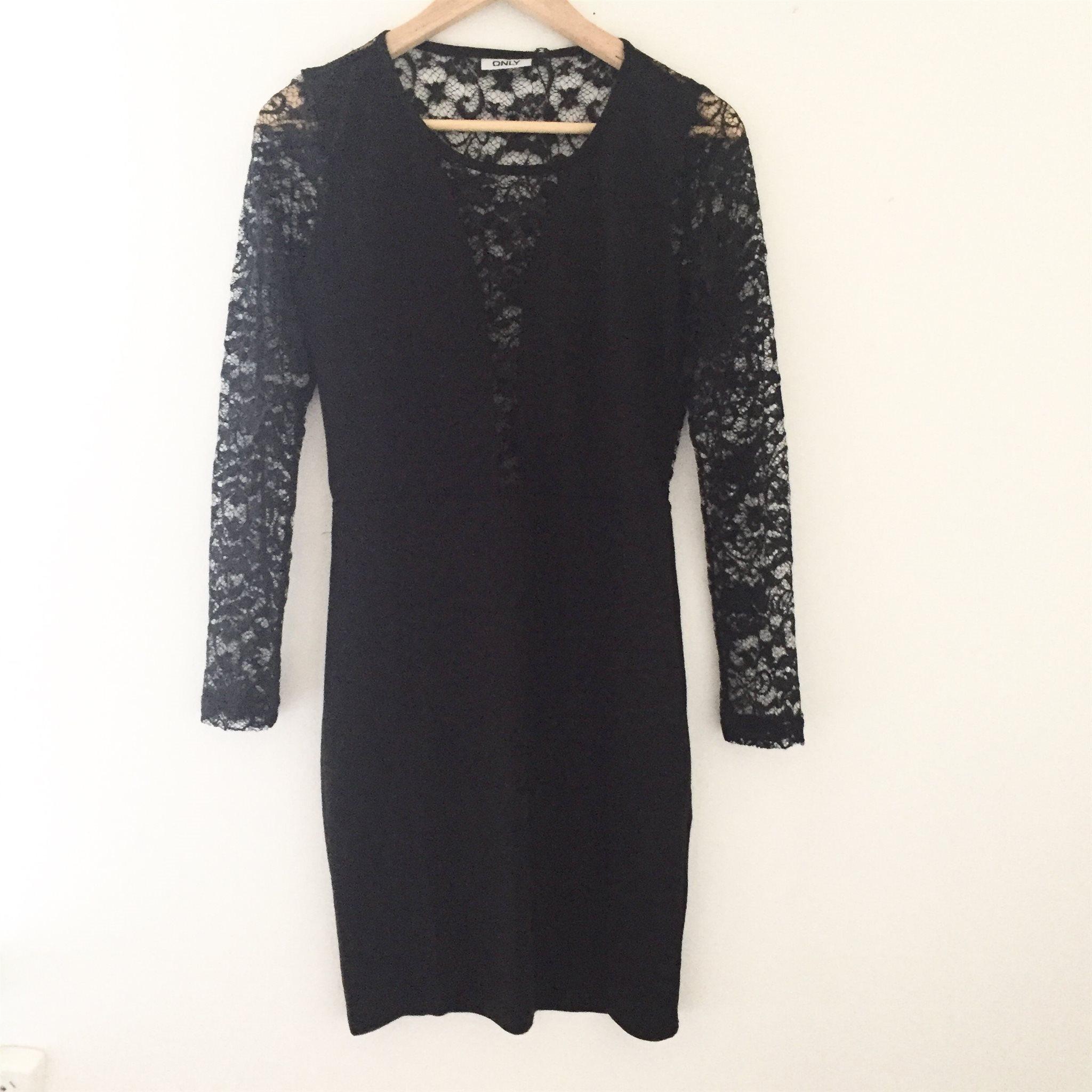 vero moda svart klänning