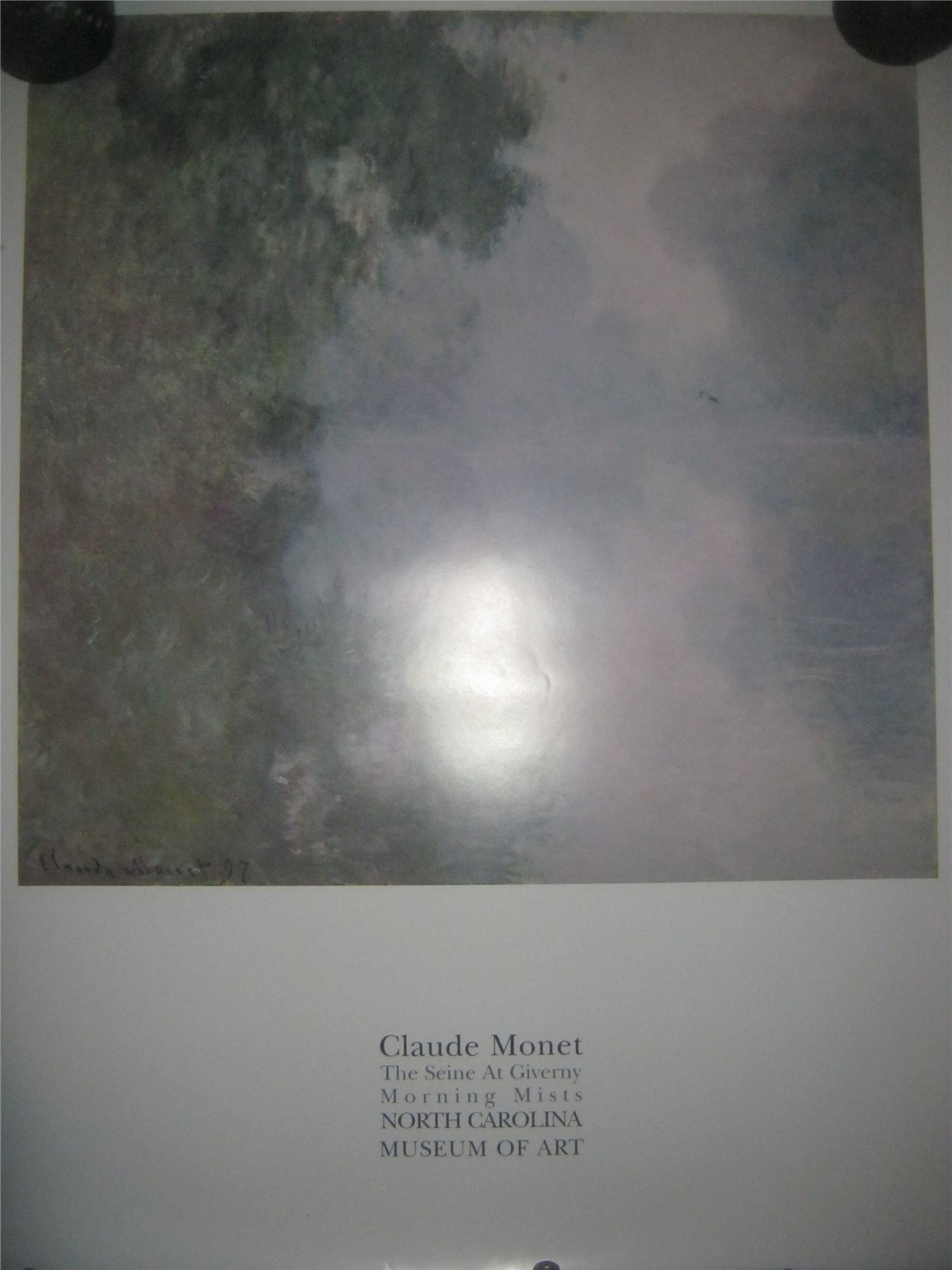 "Konstaffisch: Claude Monet ""The Seine at Giverny Morning Mists""    *importerad*"