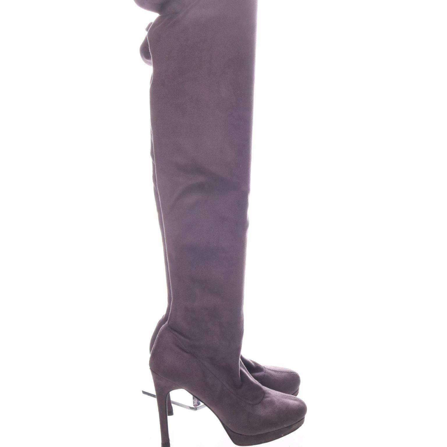 grå overknee boots