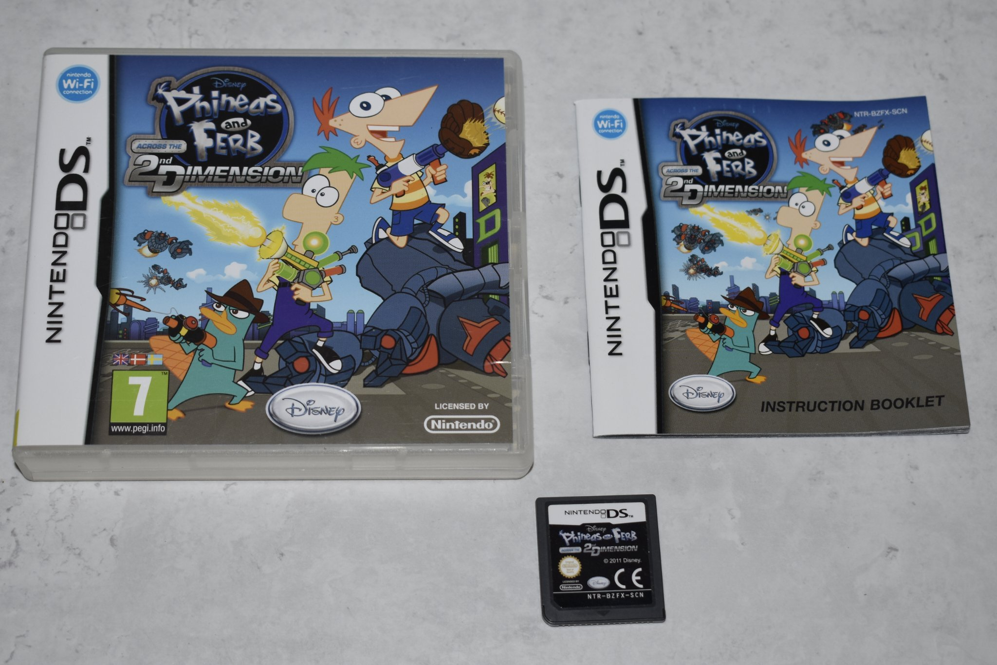 Phineas and Ferb Across the 2nd Dimension, Nintendo DS & 3DS, Komplett!