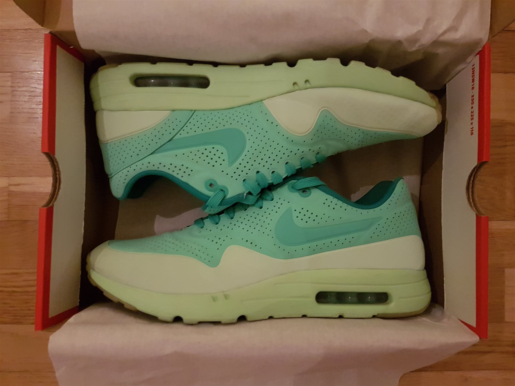 separation shoes 3dfa5 a87df Nike Air Max 1 Ultra Moire, Mint, strl 45,5