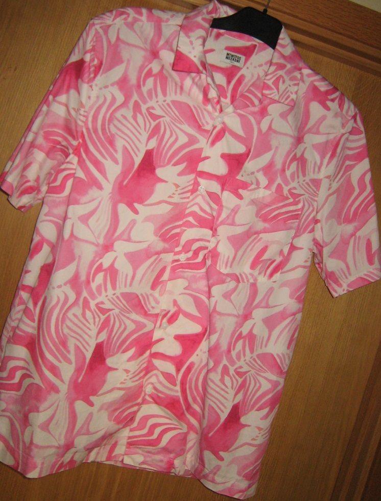 Rosa mönstrad mönstrad mönstrad MTWTFSS kortärmad sommarskjorta stl S c106f5