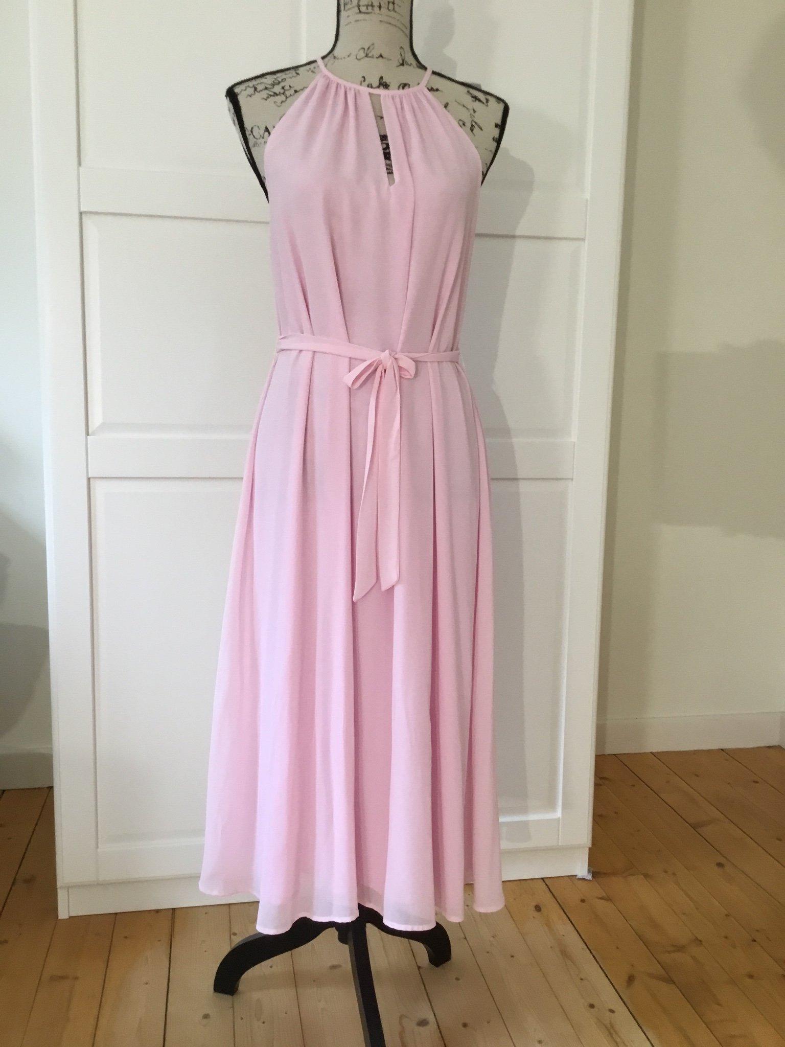 Helt ny rosa vacker chiffong klänning strl M. K.. (370250700