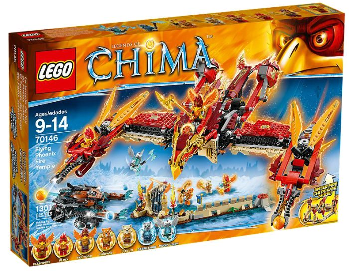 Lego Chima nr: 70146 Flying Phoenix Fire Temple Eldtempel